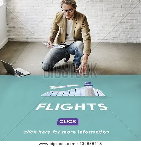 Flights Business Trip Travel Information Concept