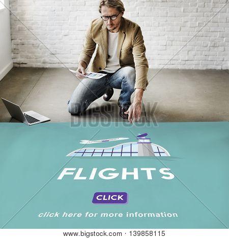 Flights Business Trip Travel Information Concept