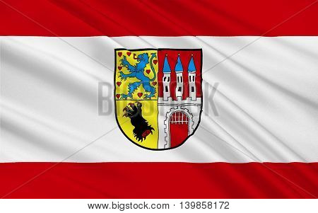 Flag of Nienburg is a town and capital of the district Nienburg in Lower Saxony Germany. 3d illustration