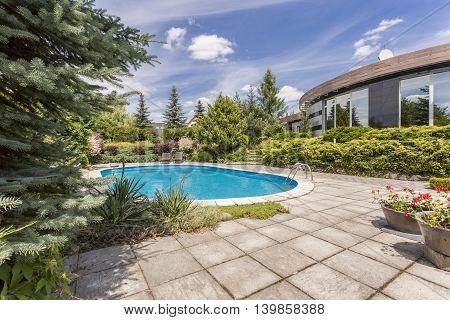 Sunny Invitation To Have A Swim