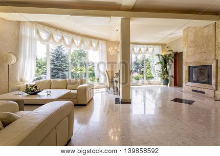 Impressive Lounge Room Displaying The Owner's Wealth