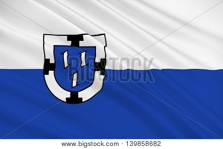 Flag of Bottrop is a city in west central Germany. 3d illustration