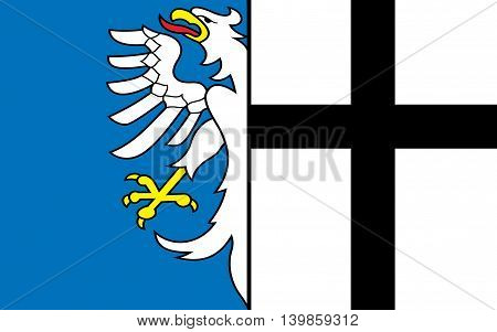 Flag of Meschede is a town in the Hochsauerland district in North Rhine-Westphalia Germany