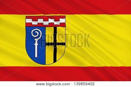 Flag of Monchengladbach formerly known as Munchen Gladbach is a city in North Rhine-Westphalia Germany. 3d illustration