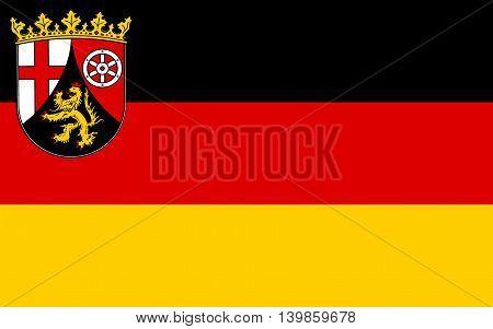 Flag of Rhineland-Palatinate - the land of Germany. Capital - the city of Mainz.