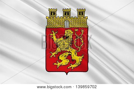 Flag of Altenkirchen is a town in Rhineland-Palatinate Germany. 3d illustration