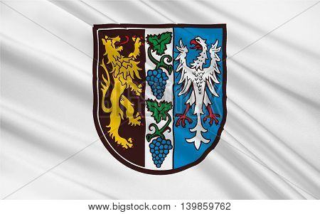 Flag of Bad Durkheim is a district in Rhineland-Palatinate Germany. 3d illustration
