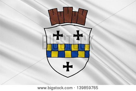 Flag of Bad Kreuznach is a town in the Bad Kreuznach district in Rhineland-Palatinate Germany. 3d illustration