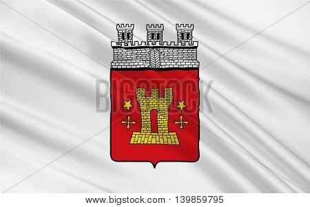 Flag of Bitburg is a city in Rhineland-Palatinate Germany. 3d illustration