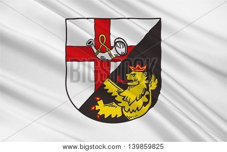 Flag of Cochem-Zell is a district (Kreis) in the north-west of Rhineland-Palatinate Germany. 3d illustration