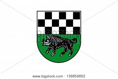 Flag of Kirchheimbolanden the capital of Donnersbergkreis is a town in Rhineland-Palatinate south-western Germany
