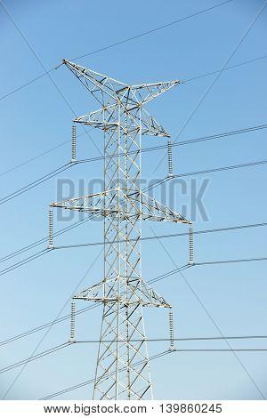 Power line in Navarra, Spain.
