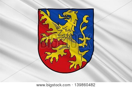 Flag of Rhein-Lahn-Kreis is a district (Kreis) in the east of Rhineland-Palatinate Germany. 3d illustration