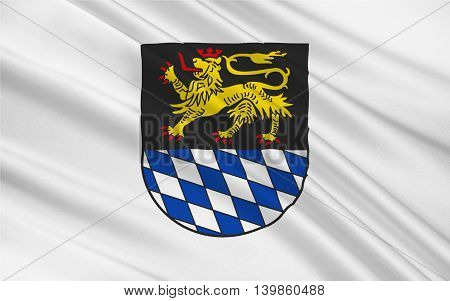Flag of Simmern is a town in Rhineland-Palatinate Germany. 3d illustration