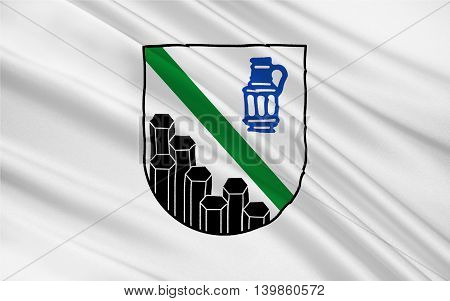 Flag of Westerwaldkreis is a district (Kreis) in the east of Rhineland-Palatinate Germany. 3d illustration