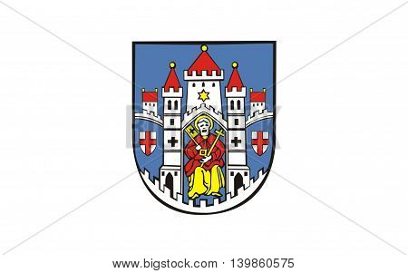 Flag of Montabaur is a town and the district seat of the Westerwaldkreis in Rhineland-Palatinate Germany