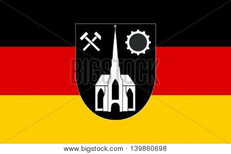 Flag of Neunkirchen is a town and a municipality in Saarland Germany