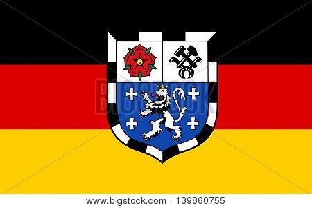 Flag of Saarbrucken is the capital of the state of Saarland Germany.