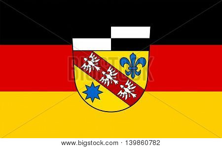 Flag of Saarlouis is a Kreis (district) in the middle of the Saarland Germany