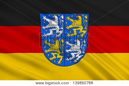 Flag of Regionalverband Saarbrucken is a district (Kreis) and town in the south of the Saarland Germany. 3d illustration