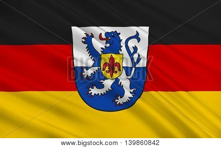 Flag of Sankt Wendel is a Kreis (district) in the north of the Saarland Germany. 3d illustration