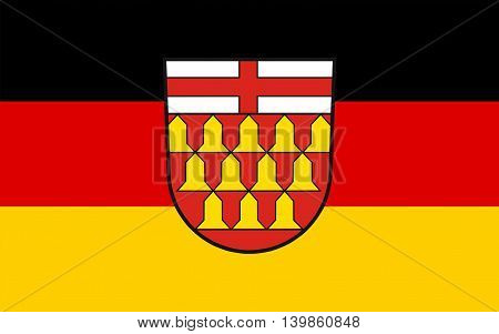 Flag of Wadern is a municipality in the German federal state Saarland