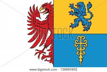 Flag of Altmarkkreis Salzwedel is a district in Saxony-Anhalt Germany
