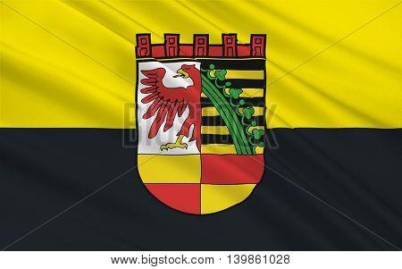 Flag of Dessau in Saxony-Anhalt Germany. 3d illustration