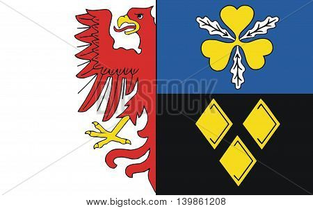 Flag of Stendal is a district in the north-east of Saxony-Anhalt Germany