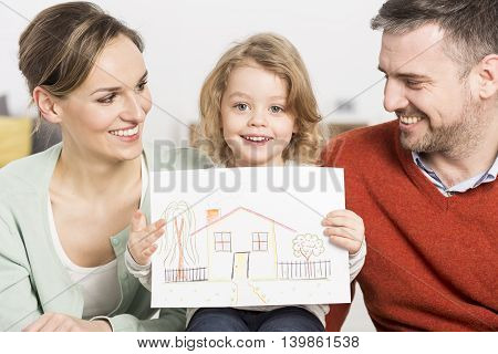 Pure Feelings Reflected On The Drawing Of A Child