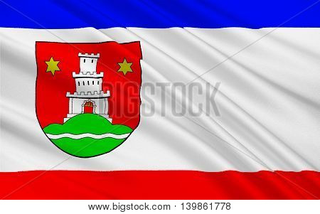 Flag of Pinneberg is a town in Schleswig-Holstein in Germany. 3d illustration