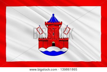 Flag of Bad Segeberg is a town in the state of Schleswig-Holstein Germany. 3d illustration