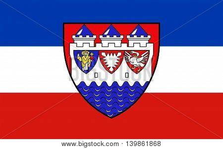 Flag of Steinburg is a district in Schleswig-Holstein Germany