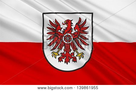Flag of Eichsfeld is a district in Thuringia Germany. 3d illustration