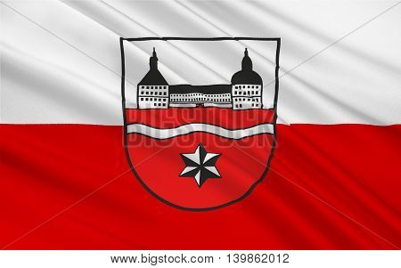 Flag of Gotha is a Kreis (district) in the middle of Thuringia Germany. 3d illustration