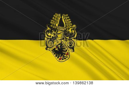 Flag of Nordhausen is a city in Thuringia Germany. 3d illustration