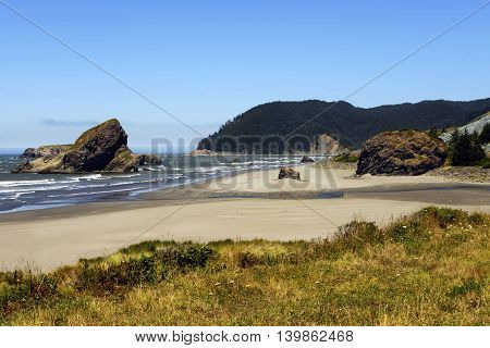 Coos Bay Coastline, Southern Oregon Coast, USA