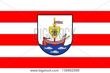 Flag of Wismar is a port and Hanseatic city in Northern Germany