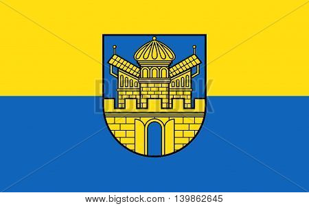 Flag of Boizenburg is a municipality in the Ludwigslust-Parchim district in Mecklenburg-Western Pomerania Germany
