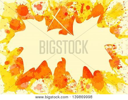Maple Leaves Over Paint Background