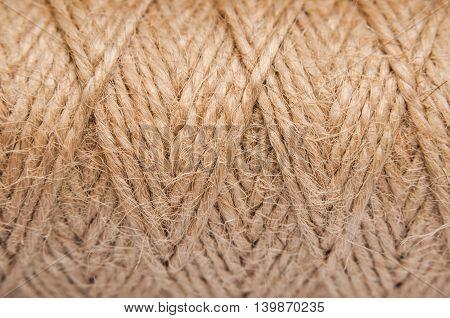 Jute rope. sisal brown rope natural background