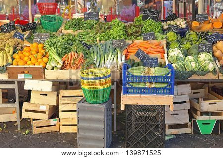 Vegetables and Fruits at Farmers Market in Nice