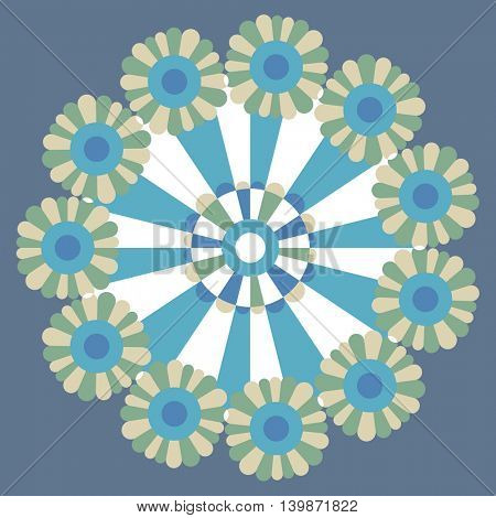 floral pattern, abstract vector flower