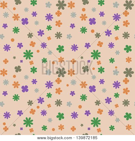 Floral seamless pattern. Fashion graphic background design. Modern stylish abstract texture. Colorful template for prints textiles wrapping wallpaper website etc. VECTOR illustration