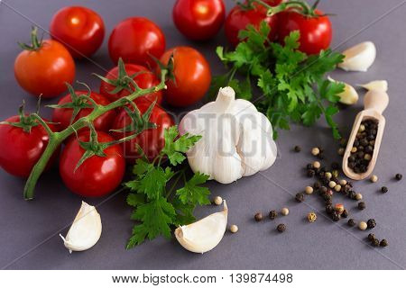 Parsley,  Garlic, Tomatoes And Spices