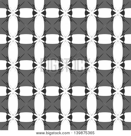 Square gray seamless pattern. Fashion graphic background design. Modern stylish abstract texture. Monochrome template for prints textiles wrapping wallpaper website VECTOR illustration