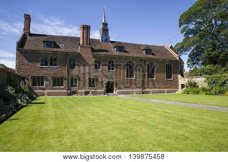 A view of one of the buildings at Magdalene College in Cambridge UK.