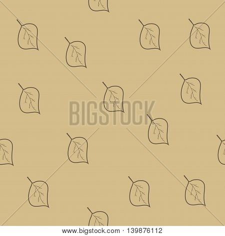 Tree leaf brown seamless pattern. Fashion graphic background design. Modern stylish abstract texture. Colorful template for prints textiles wrapping wallpaper website etc. VECTOR illustration