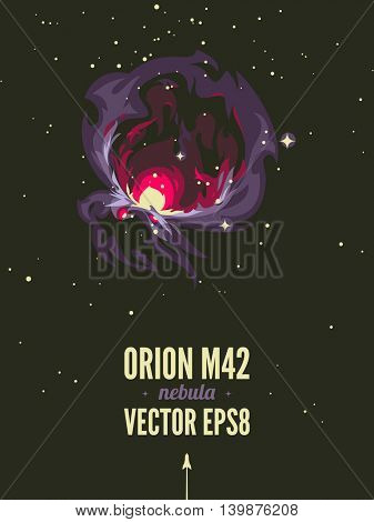 Orion nebula Retro space theme poster