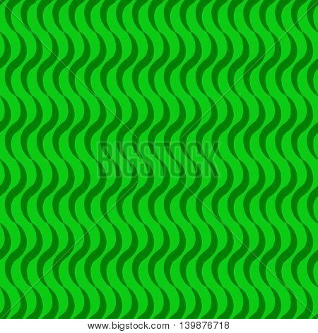 Wave line green seamless pattern. Fashion graphic background design. Modern stylish abstract texture. Colorful template for prints textiles wrapping wallpaper website etc. VECTOR illustration